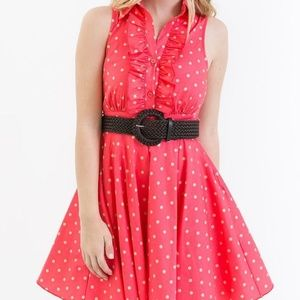 Bailey Blue red and white polka dot dress
